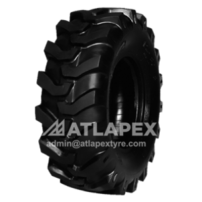 12.5/80-18 backhoe tire with AT-BKF1 pattern for the front of backhoe