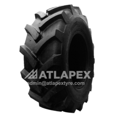 15.5/80-24 R-1 tire with AT-MT1 pattern for backhoe