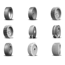 Scissor lift wheels and tires with full range and approved quality.