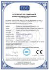 EBO certificate of compliance