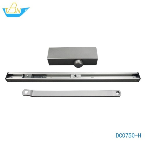 High-quality Optional BC and DA No Left and Right Aluminum Alloy Hydraulic Slide Rail Exposed Door Closer