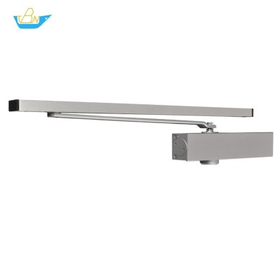 Adjustable Power Optional Hold-open Left and Right Aluminum Alloy Slide Rail Exposed Door Closer