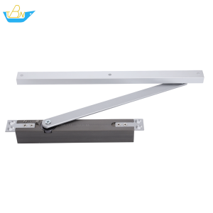 Concealed fireproof small shell adjustable power Aluminum Alloy hold-open window and door closer