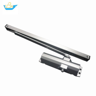 High Quality Adjustable Power 80kg Hydraulic Automatic 180 degree Slide Rail Exposed Door Closer