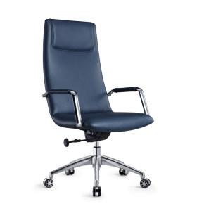 Chaise pivotante de bureau en cuir PU à dossier haut Y&F (DH-1801A)
