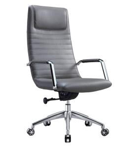Chaise pivotante de bureau en cuir PU à dossier haut Y&F (DH-1801A-1)