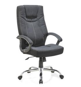 Chaise pivotante de bureau en tissu de cuir à dossier haut Y&F (HF-366)