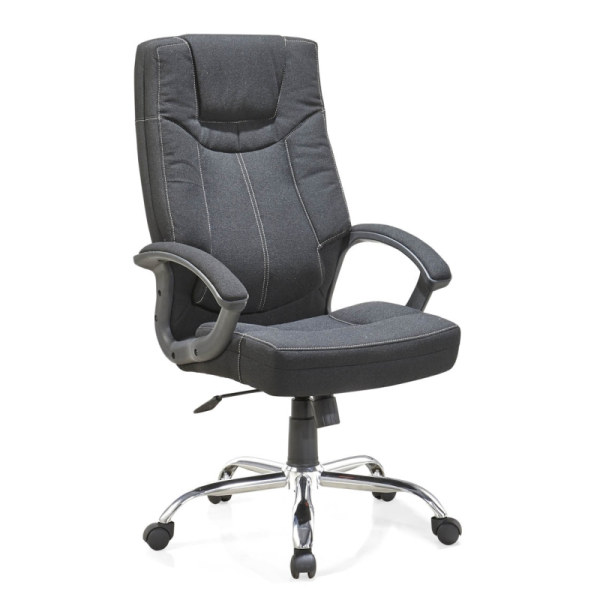 Y&F High Back Leather Fabric Office Swivel Chair (HF-366)