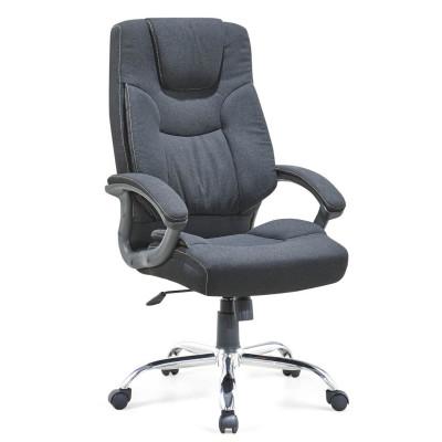 Chaise pivotante de bureau en cuir PU à dossier haut Y&F avec accoudoir en nylon (HF-459)