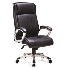 Chaise pivotante de bureau en cuir PU à dossier haut Y&F (HF-526)