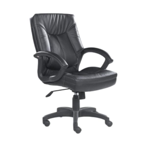 Chaise exécutive de bureau en cuir PU à dossier moyen Y&F avec accoudoirs en nylon et base en nylon (HF-366-1)