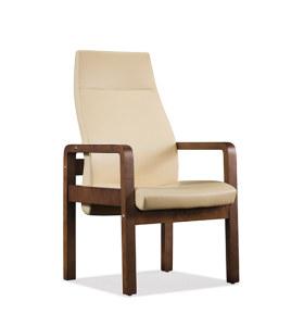 Réception de bureau et chaise d'invité en cuir PU à dossier haut Y&F (YF-1820A)