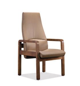 Réception de bureau et chaise d'invité en cuir à dossier haut Y&F (YF-1822A)