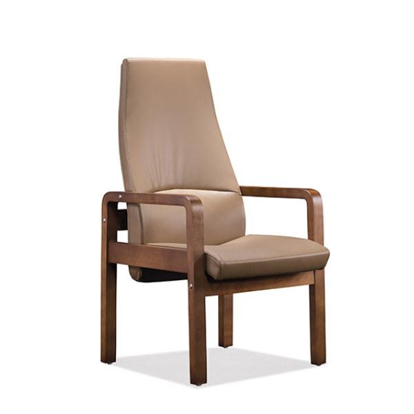 Recepción y silla de invitados de cuero con respaldo alto de Y&F (YF-1822A)