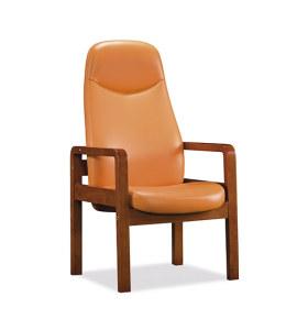 Réception de bureau et chaise d'invité en cuir à dossier haut Y&F (YF-1823A)