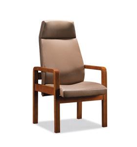 Réception de bureau et chaise d'invité en cuir à dossier haut Y&F (YF-1828A)