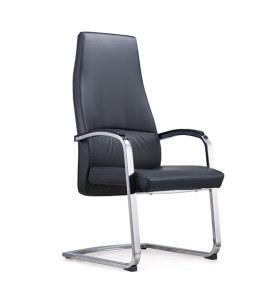 Réception de bureau et chaise d'invité en cuir à dossier haut Y&F avec structure en métal (YF-1822)