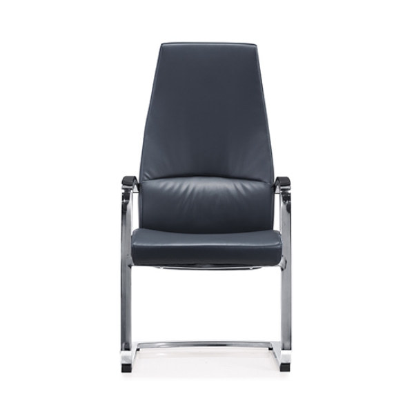 Y&F High Back Leather Office Reception and Guest Chair with Chrome Metal Frame (YF-1822)