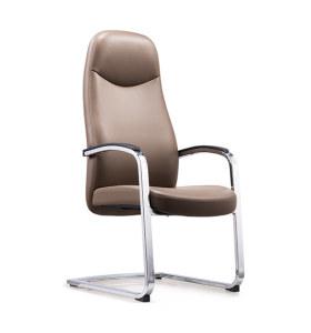 Réception de bureau et chaise d'invité en cuir à dossier haut Y&F avec cadre chromé (YF-1823)