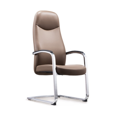 Y&F High Back PU/Leather Office Reception and Guest Chair with Chrome Frame(YF-1823)