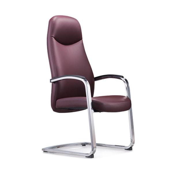 Réception de bureau et chaise d'invité en cuir PU à dossier haut Y&F avec cadre en métal chromé (YF-1823)