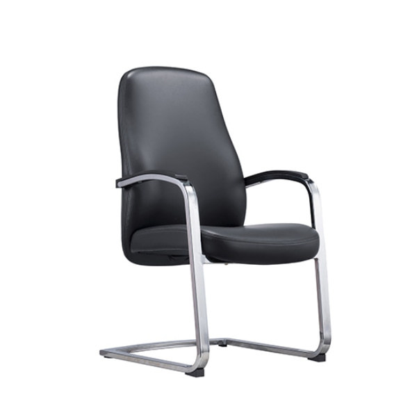 Y&F Middle Back Leather Office Reception and Guest Chair with Metal Frame (YF-1623)