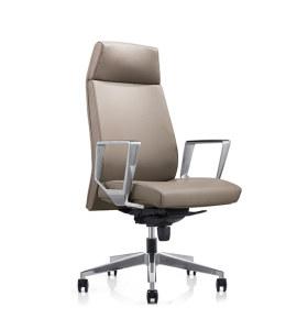 Chaise exécutive de bureau en cuir PU grand et haut à dossier haut Y&F (YF-828-116)