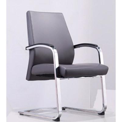 Réception de bureau et chaise d'invité en cuir à dossier moyen Y&F avec cadre en métal chromé (YF-1628)