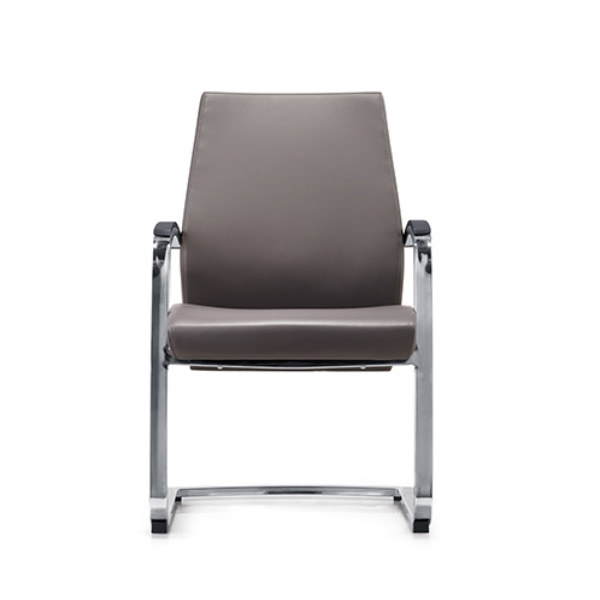 Recepción de oficina y silla de invitados de cuero con respaldo medio Y&F