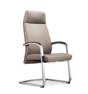 Réception de bureau et chaise d'invité en cuir à dossier haut Y&F avec cadre en métal chromé (YF-1828)