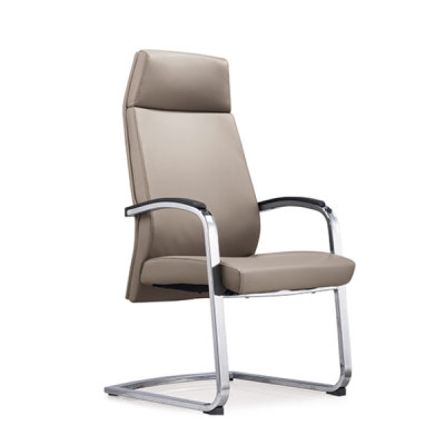 Wholesale High Back Leather Office Reception and Guest Chair, Chrome Metal Frame(YF-1828)