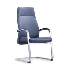 Réception de bureau et chaise d'invité en cuir à dossier haut Y&F avec cadre chromé (YF-1820)