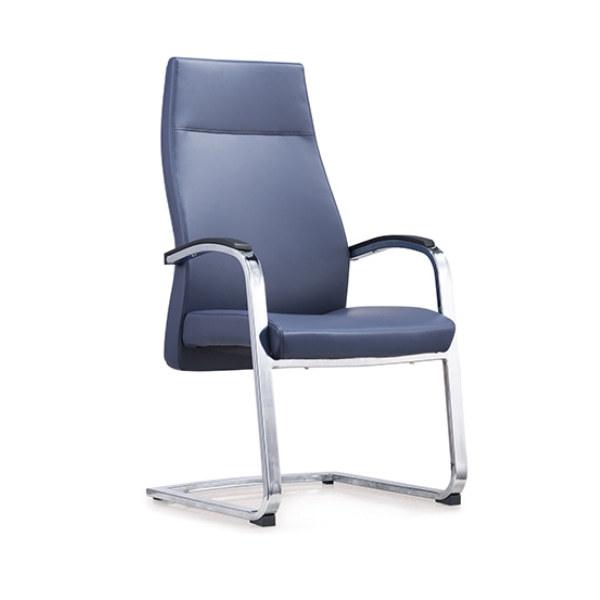 Recepción y silla de invitados de cuero con respaldo alto Y&F