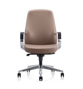 Y&F Middle Back PU Leather Office Executive Chair with Aluminum Alloy Armrest(YF-623-077)