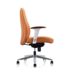 Y & F PU кожаный офисный стул для руководителя с отделкой под дерево и регулируемыми по высоте подлокотниками (YF-623-021)