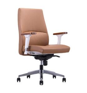 Y & F Офисный стул со спинкой из искусственной кожи и деревянными подлокотниками (YF-622-021)