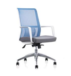Chaise de bureau à dossier moyen Y&F avec cadre et accoudoir en PP, base en alliage d'aluminium (YF-6628W)
