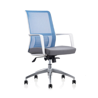 Y&F Middle Back Mesh Office Chair with PP Back Frame and Armrest,Aluminum Alloy Base(YF-6628W)