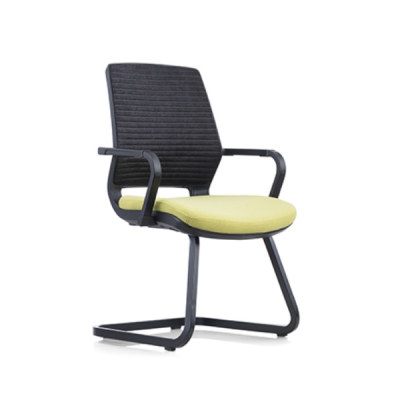 Y&F Middle Back Mesh Office Task Chair with Chrome Frame and Armrest(YF-16622B-1)