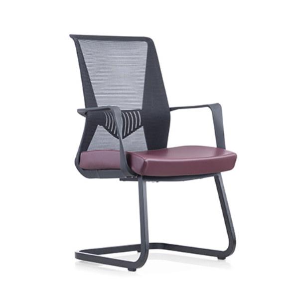 Chaise de conférence de bureau à dossier moyen Y&F avec dossier et accoudoirs en PP, base chromée (YF-16629B-1)