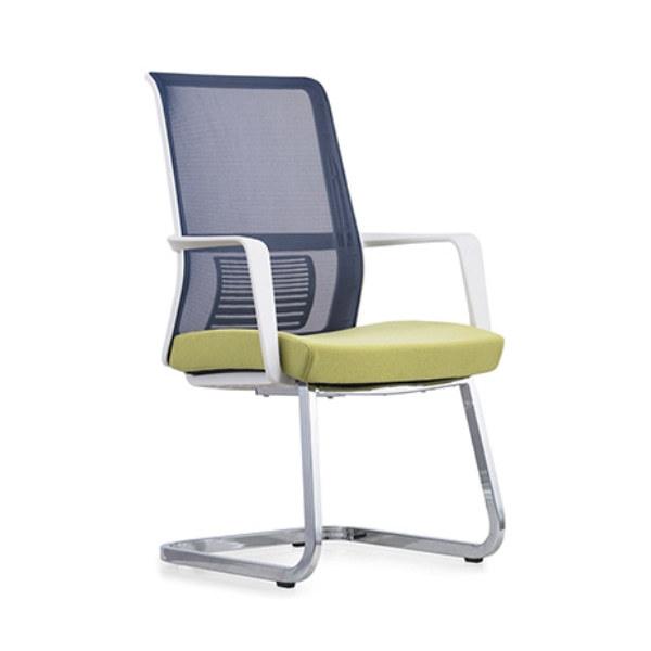 Chaise de conférence de bureau en maille à dossier moyen Y&F avec cadre et accoudoir arrière en PP, cadre de base en métal (YF-16628W)