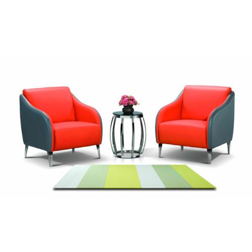 Sofá de oficina de cuero y PU Y&F con pies de acero inoxidable, diseño de moda y asiento cómodo (SF-935)