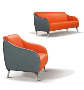 Y&F PU / canapé de bureau en cuir avec pieds en acier inoxydable, design de mode et assise confortable (SF-935)