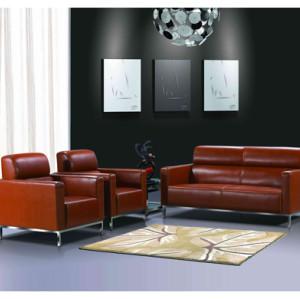 Sofá de oficina de cuero y PU Y&F con base y marco de acero inoxidable (SF-145KD)