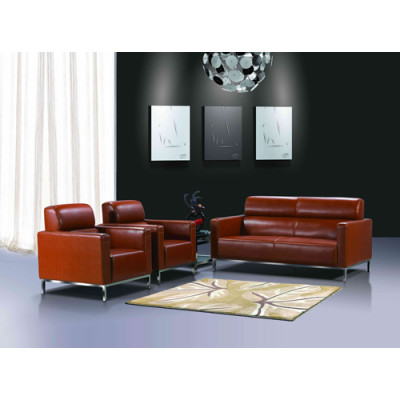 Y&F Wholesale Modern PU Office Sofas, stainless steel Base and Frame (SF-145KD)