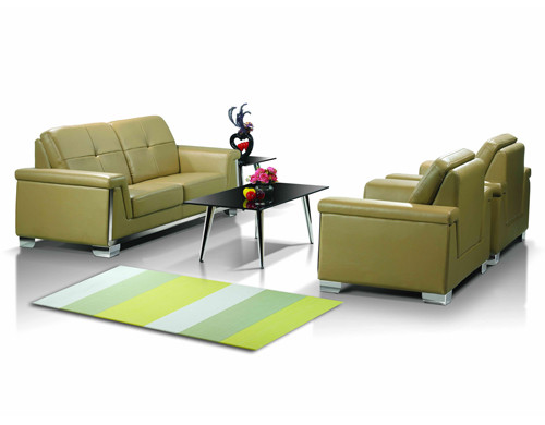 Y & F PU / кожаный офисный диван с основанием и рамой из нержавеющей стали (SF-835)