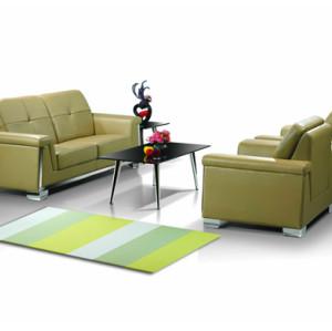 Sofá de oficina moderno Y&F, base y marco de acero inoxidable, tela de PU o cuero (SF-835)
