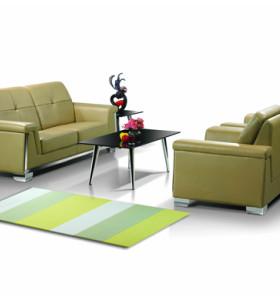 Canapé de bureau moderne Y&F, base et structure en acier inoxydable, tissu PU ou cuir (SF-835)