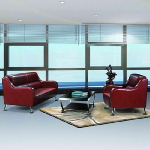 Sofá de oficina moderno Y&F, base y marco de acero inoxidable, tela de PU o cuero (SF-836)