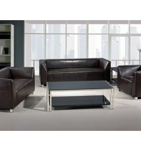 Y&F Modern Office Sofas, stainless steel base and frame, PU and leather Fabric (SF-892)